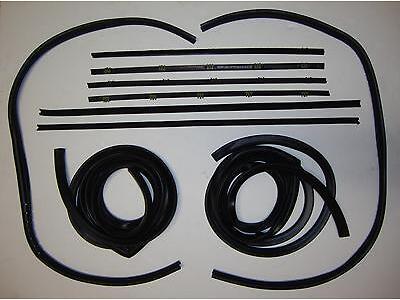 1967-1972 Chevrolet GMC Pickup Truck Door Weatherstrip Seal Kit, Chrome Beads