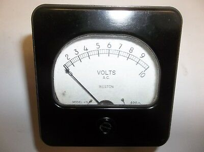Vintage Weston Ac Volt Meter 0-10 Model 476