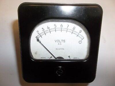 Vintage Weston Ac Volt Meter 0-10 Model 476