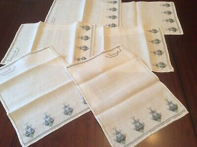 Attractive Embroidered linen Place mats  ( C6)