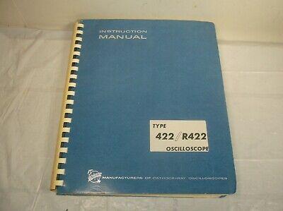 Tektronix 422r422 Cathode-ray Oscilloscope Instruction Technical Service Manual