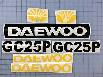 Set Of Daewoo Gc25p Forklift Decal Stickers