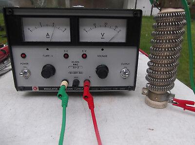 Kikusui Pac35-5 Regulated Adjustable Dc Power Supply 0-35vdc 0-5amp