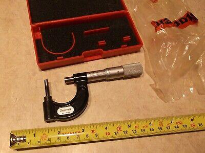 Micrometer Outside Starrett 569maxp Pipe Wall Tube Wall Metric 0-25.4mm
