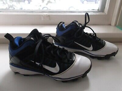separation shoes 048bf 85722 Nike Size 5.5Y Power Channel Baseball Shoes   Cleats, Black-white-blue, EUC
