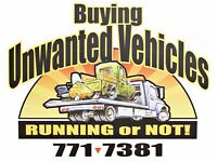 BUYING UNWANTED VEHICLES $$