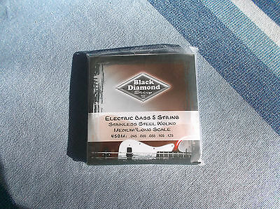 Black Diamond Electric Bass - -,Black Diamond electric  bass 5  string .045-.125 Stailess  steel wound