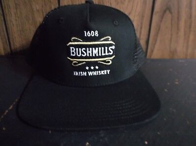 Bushmills Irish Whiskey hat baseball mesh trucker adjustable black new w/o tag