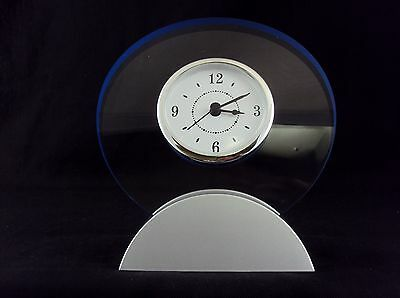 Modular Desk Clock Analog Alpha Dial In Transparent Acrylic Frame Cl-320