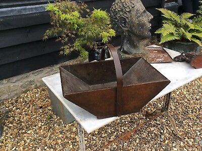 Lovely Victorian Ash And Pine Kitchen Garden Trugg Tray Fruit Bowl Treen