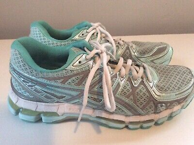 Asics Gel-Kayano 20 Women's Running Shoes - Aqua/Gray - Sz 8.5