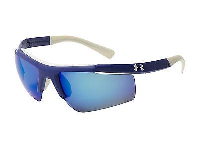 $105 Under Armour UA Core Sport Sunglasses Blue White Multiflection 8600035-6002