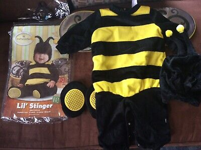 Baby Bumble Bee Costumes (~Bumble Bee Costume Baby Halloween~ size small~6-12 months~Lil' Stinger~So)