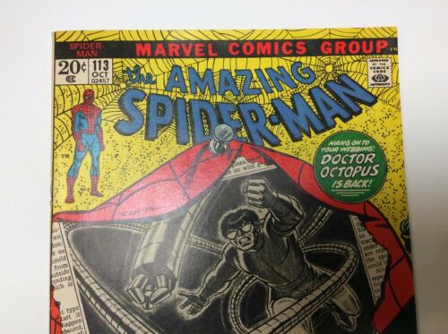 Comic Book Pressing & Cleaning Service Example Amazing Spiderman #113