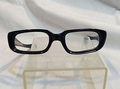 Vintage italian Geri Womens Cat Eye Eyeglass Frames 44/20 Black - Free Shipping