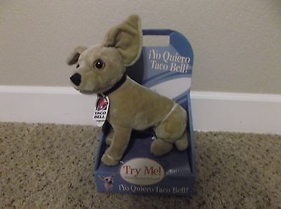 1998 Vintage TACO BELL Dog Doll - Chihuahau  - New in Box - Dead Battery