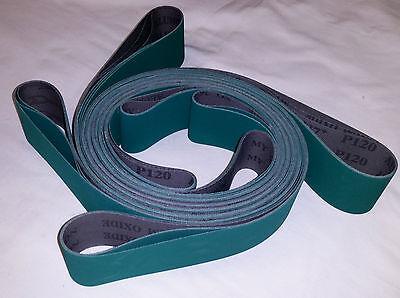 2x48 Sanding Belts 220 Grit Premium Lubed J Flex 6pcs