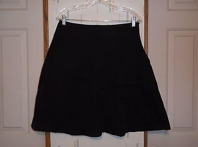 (George Stretch Black Bias Cut A-Line Flared Cotton Blend Skirt Women's  Sz. 12)