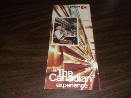 """CANADIAN PACIFIC """"THE CANADIAN"""" BROCHURE"""