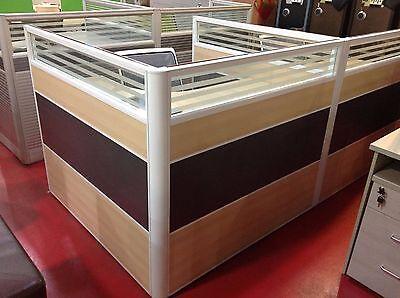 """Upscale 4 Desk Cubicle Office Workstation 60"""" x 60"""" x 43"""";Model#:ACSNIL77C"""