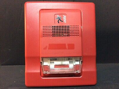 Edwards Est Eg1r-v110 W Large Mount Base Red Strobe Fire Alarm