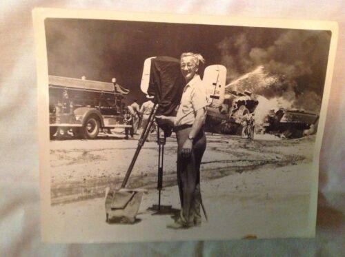 Photographer With Military Plane Crash, Original Photograph