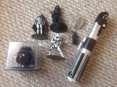 Star Wars Bundle Figures Light Saber Darth Vader Head Ect