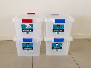 Four 18 litre capacity snap lock containers $25 negotiable Driver Palmerston Area Preview
