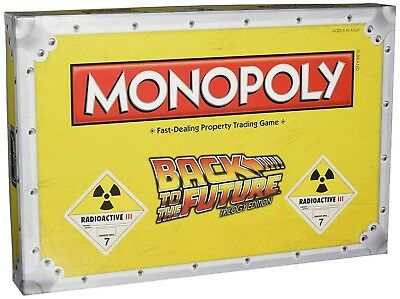 Monopoly Back To The Future Trilogy Edition Retro Traditional Board Game Toy New