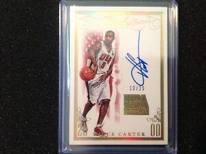 2014-15 NBA Panini Flawless Vince Carter Team USA On Card Auto 10/25