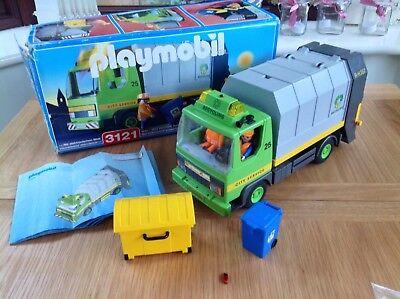 Playmobil Toy Playset - Playmobil Recycling Truck Playset 3121 - Flashing Lights