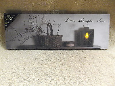 Live Laugh Love Lighted Canvas Wall Decor Americana Home Basket Billy Jacobs New
