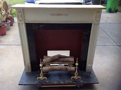 Vintage Retro Electric Decorative (Antique White Electric Fireplace)
