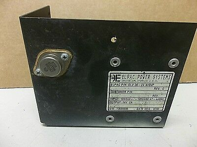 Elpac Power Systems Power Supply Olv 30-24 Novp 24v 2a 2 A Amp Olv3024novp
