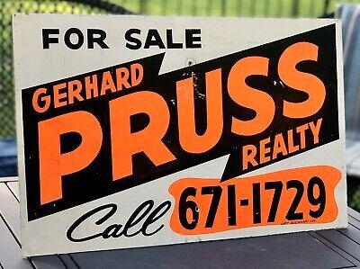 Vintage Gerhard Pruss Realty Real Estate For Sale Sign by Artist Art Siemann