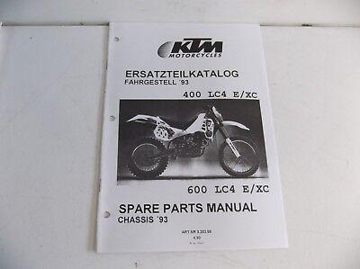 KTM  400 600 LC4  MANUAL OF CHASIS  PARTS   PARTS KTM  1993