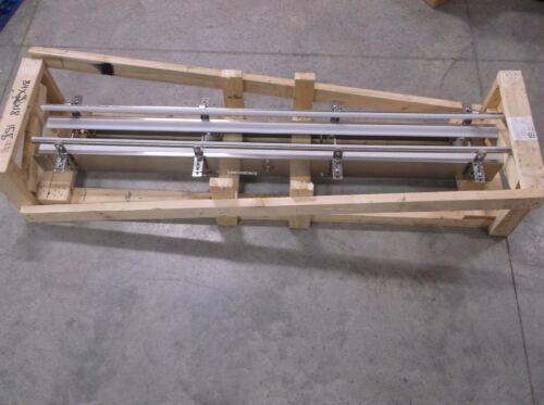"76.5"" X 6"" Neroco Engineering & Mfg Stainless Steel Adjustable Conveyor Section"
