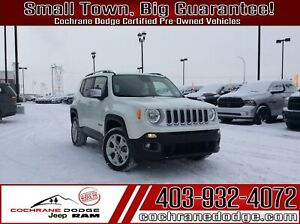 2017 Jeep Renegade Limited 4x4 w/NAV, Roof and leather