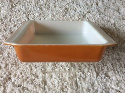 Vintage Pyrex 922 ~ SQUARE BAKING DISH ~ Orange 8x8x2 Ovenware EUC