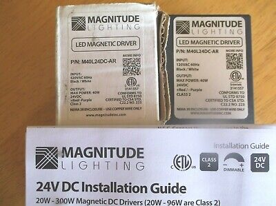 Led Magnetic Driver  M40l24dc-ar  Magnitude Lighting New In Box
