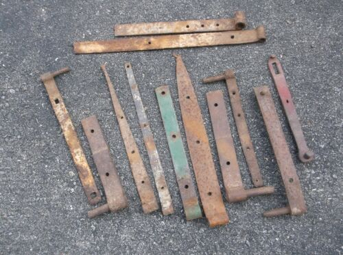 Antique Strap Hinges Pintles Hasp Latch Barn Door Stable Outhouse Door~Real~