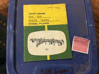 John Deere 100 150 Rigid 100fh 150fh Omn159156 Chisel Plow Operator Book