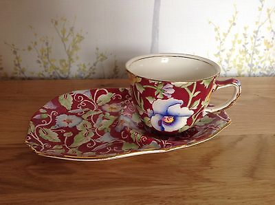 Royal Winton Grimwades June Festival , Morning Glory ,Cup And Saucer Tennis Set