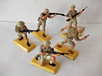 Britains Deetail British 8th army x 5...cat-no 7390