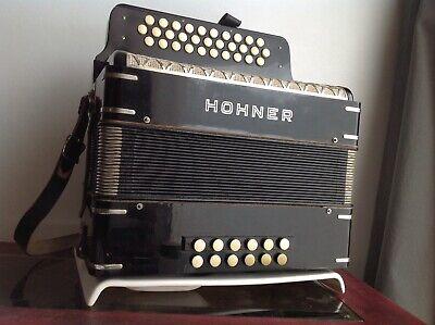 Hohner Corona Vintage 3 row Diatonic button Accordion Melodeon GCF w low tones