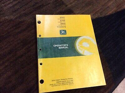 John Deere 8560 8760 8960 Tractor Omar109479 Operators Manual Book