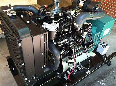 20 Kw Diesel Generator Mitsubishi With 25 Gal Tank Emergency Standby Genset