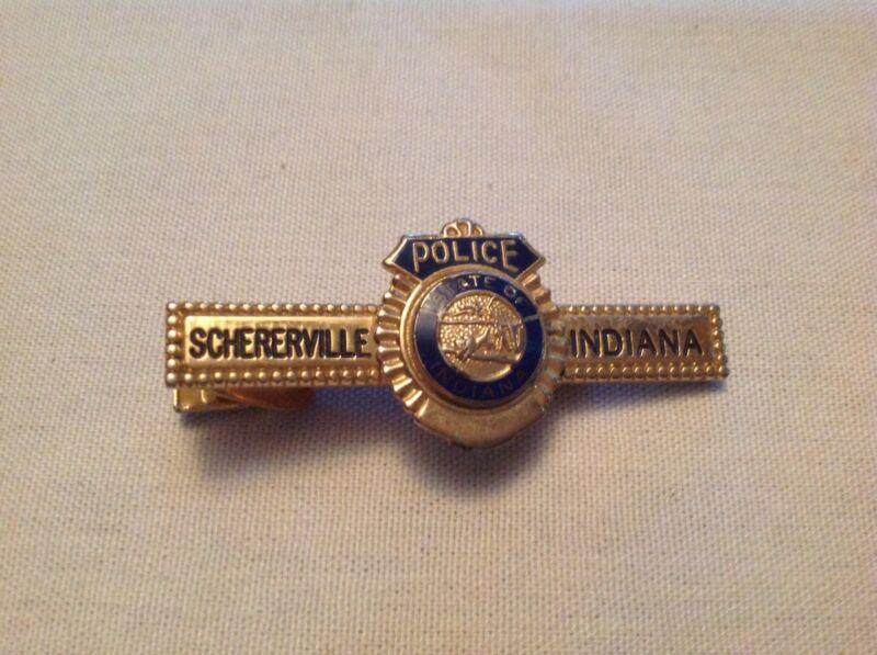 Schererville Indiana Police Tie Clip