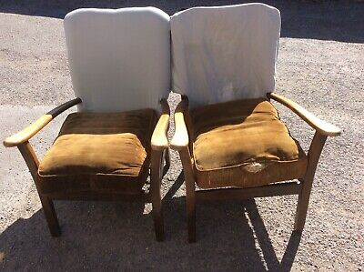 Matching Pair Armchairs Vintage