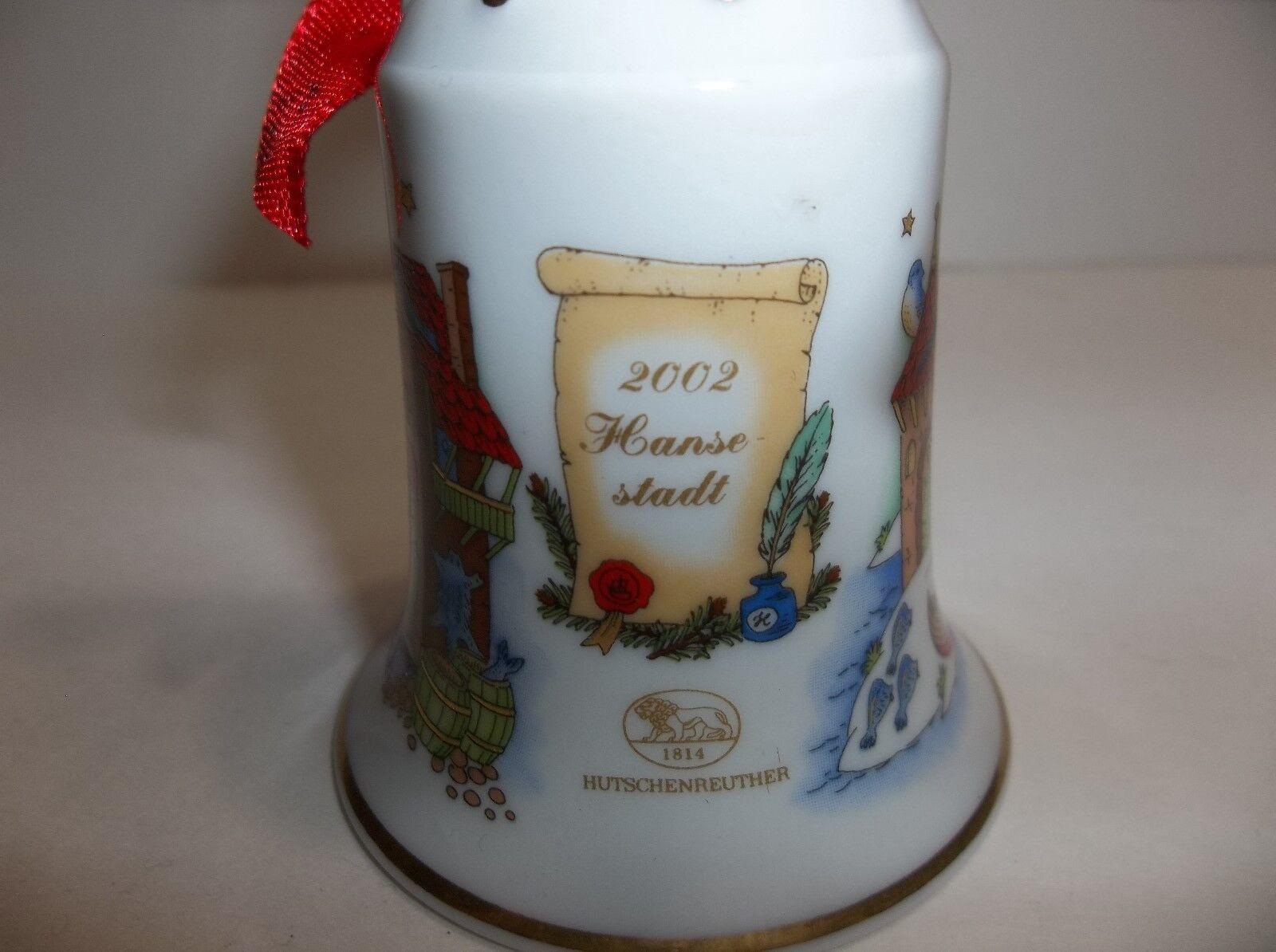 hutschenreuther porcelain bell christmas ornament 2002 ole. Black Bedroom Furniture Sets. Home Design Ideas